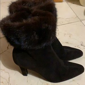 Gorgeous YSL suede  above the ankle boot